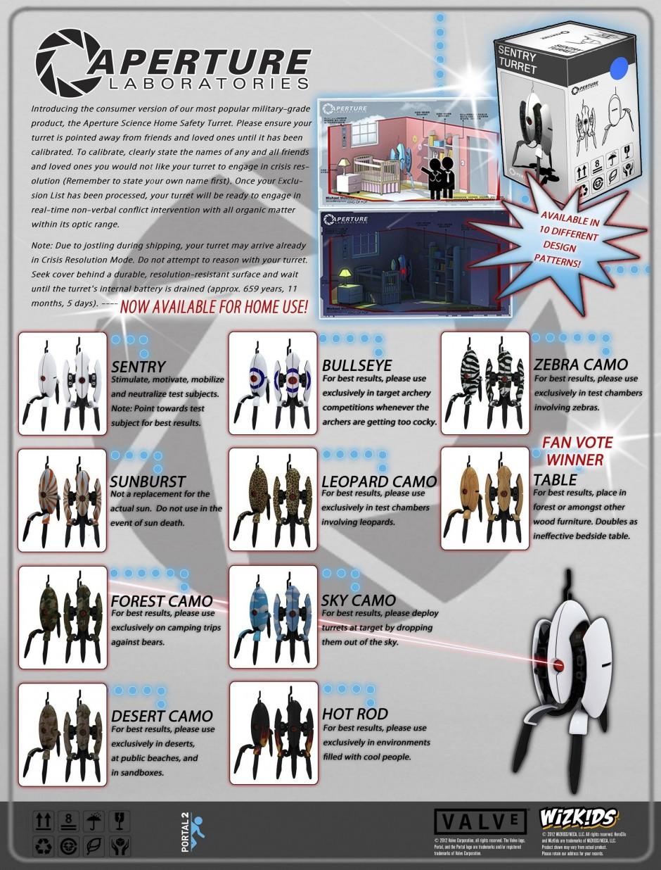 Neca Portal 2 Mini Sentry Turret Figures 171 Preternia