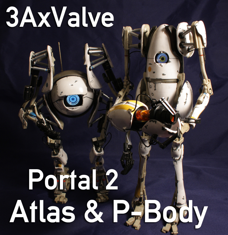 3A Portal 2 1/6 Scale Atlas and P-Body Review