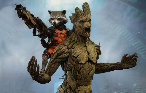 Hot Toys Reveals 1/6 Rocket Raccoon and Groot