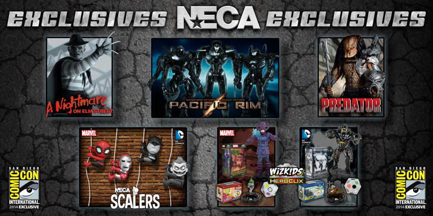 SDCC 2014: NECA Exclusives Recap + Non Attendee Sale Date and Time