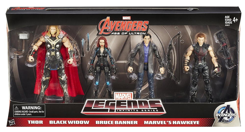 Marvel Legends Avengers Amazon 4-Pack Pops Up!