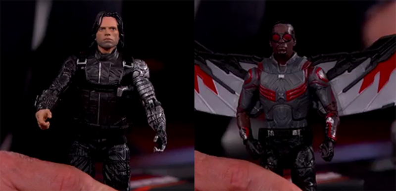 Marvel Legends Falcon and Winter Soldier Previewed on Jimmy Kimmel Live!