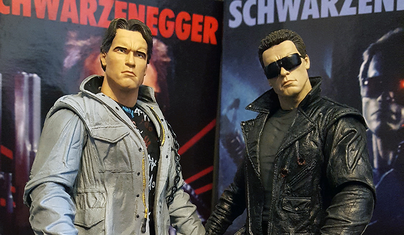 NECA Ultimate Tech Noir and Police Station Assault Terminator Review