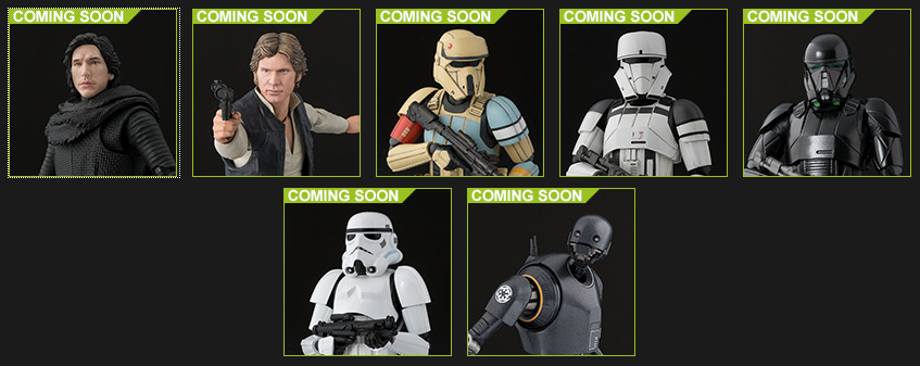 Bandai Reveals Figuarts Star Wars Rogue One Lineup, Han Solo, and More!