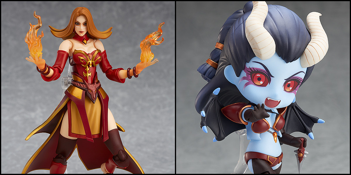 Good Smile Company: DOTA2 Lina Figma and Queen of Pain Nendoroid Revealed!