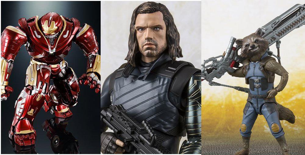 Bandai: Marvel Avengers Infinity War S.H. Figuarts Hulkbuster, Bucky, and Rocket Revealed