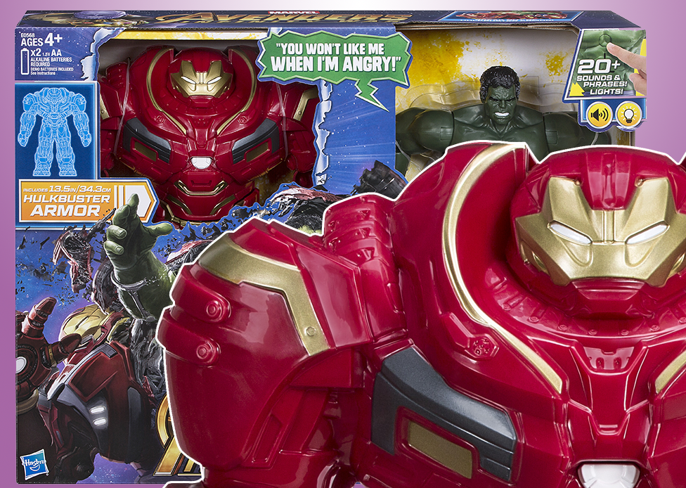Hasbro Marvel Avengers Infinity War Hulk Out Hulkbuster Figure Reveal