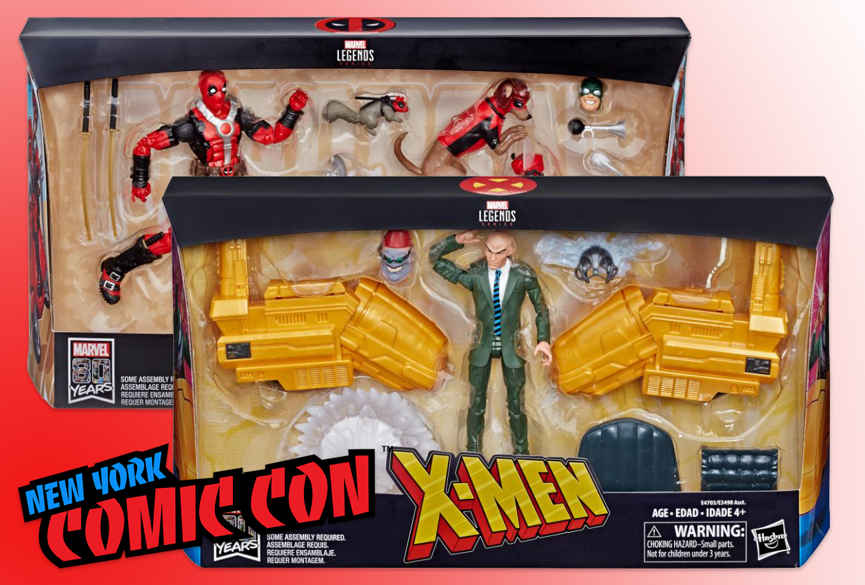 NYCC 2018: Marvel Legends Deadpool & Professor X Rider Carded Images
