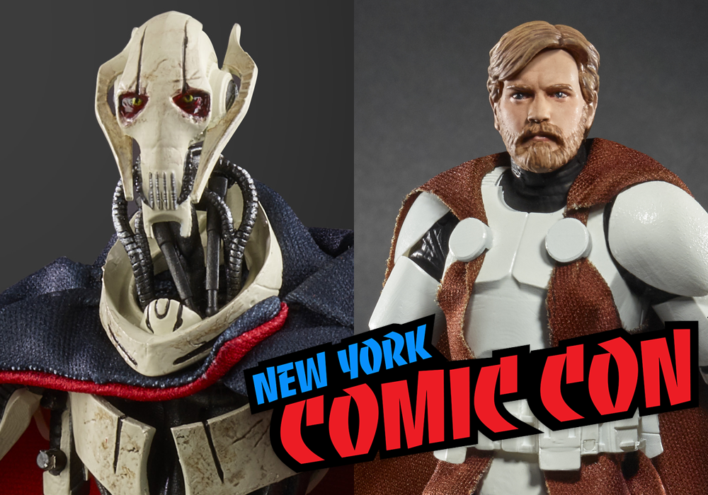 NYCC 2018: Hasbro Star Wars Black Six-Inch General Grievous and Clone Wars Obi-Wan